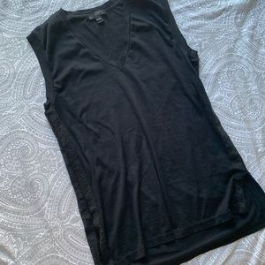 J crew black v neck tank top
